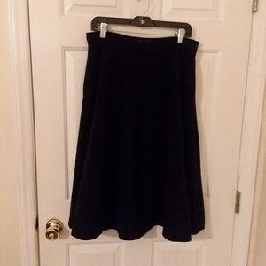 Anthro/Cartonnier black skirt sz 14